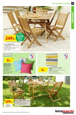 Best Salon De Jardin En Acacia Intermarche Images - House ...