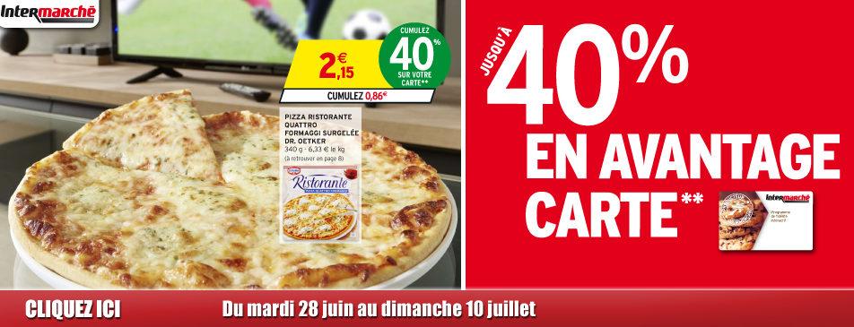 Jusqu'à 40% en avantage carte du mardi 28 juin au dimanche 10 juillet Intermarché Givet