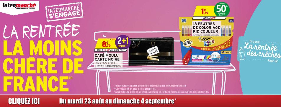 La rentrée la moins chère de France du mardi 23 août au 4 dimanche 4 septembre
