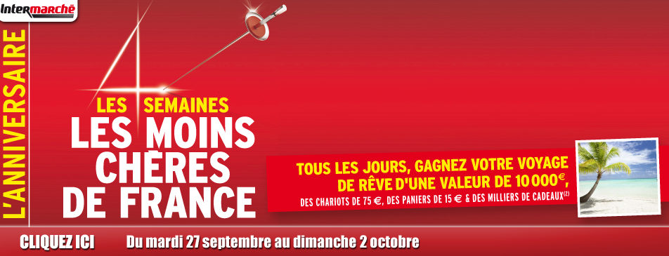 Les semaines les moins chères de France du 27 septembre au 2 octobre 2016