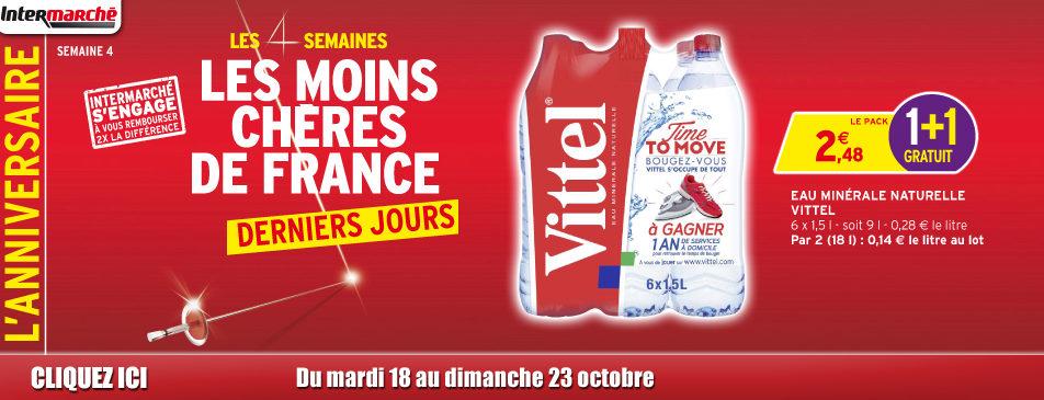 Les semaines les moins chères de France du 18 au 23 octobre 2016