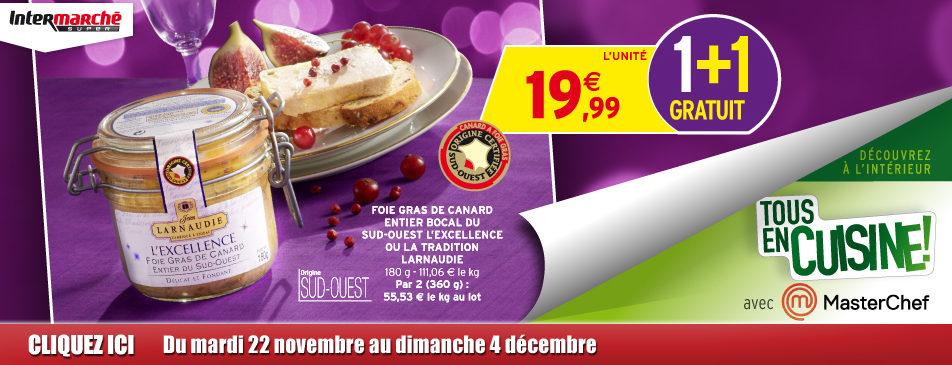 Tous en cuisine du 22 novembre au 4 décembre dans votre Intermarché Givet
