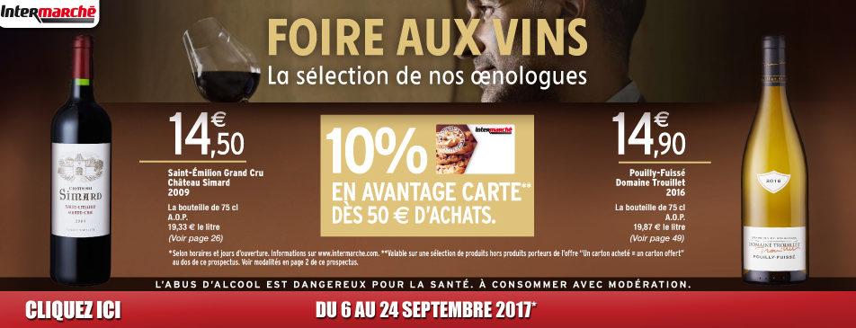 Foire aux vins d'automne du mercredi 6 au dimanche 24 septembre 2017 Intermarché Givet