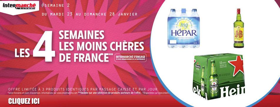 Les 4 semaines les moins chères de France du mardi 23 au dimanche 28 janvier dans votre intermarché Givet