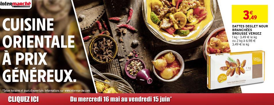 Cuisine orientale à prix généreux du mercredi 16 mai au vendredi 15 juin Intermarché Givet