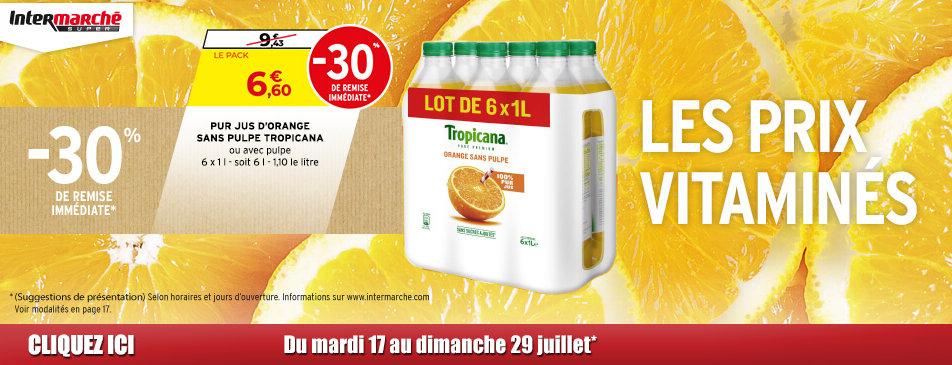 Les prix vitaminés du mardi 17 au dimanche 29 juillet Intermarché Givet