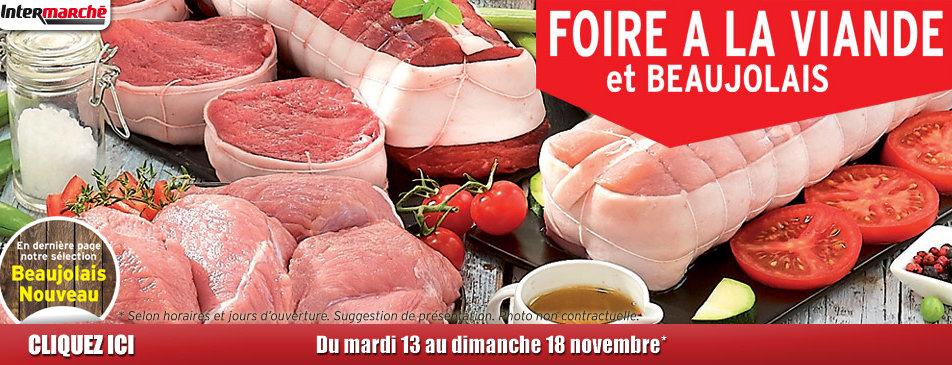Foire à la viande du mardi 13 au dimanche 18 novembre Intermarché Givet