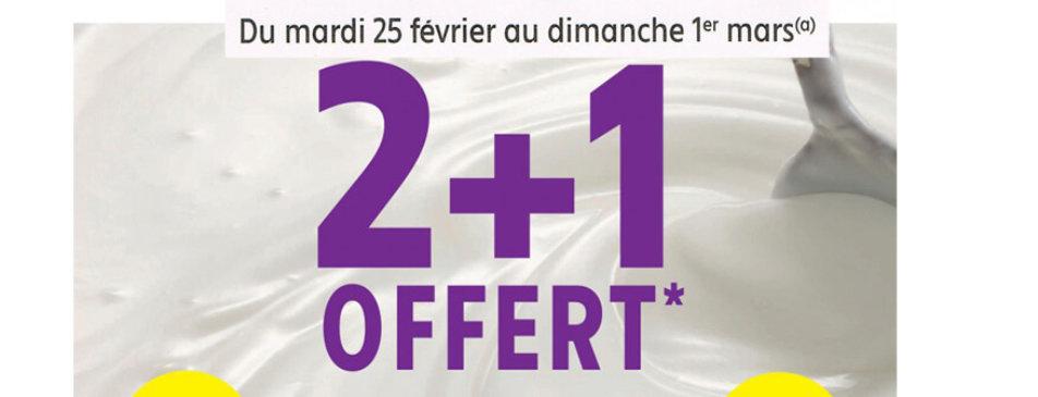 2+1 offert du mardi 25 février au dimanche 1er mars Intermarché Givet
