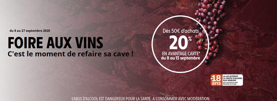 Foire aux vins automne 2020 du mardi 8 au dimanche 27 septembre Intermarché Givet