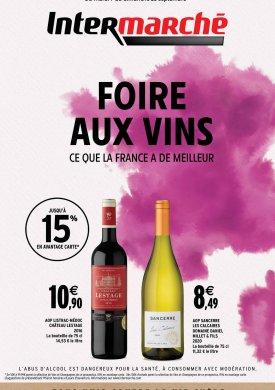 Foire aux vins automne 2021 du mardi 7 au dimanche 26 septembre Intermarché Givet