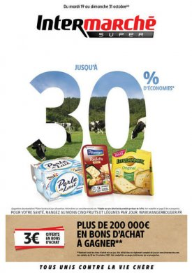 Jusqu'à 30% d'économies – Du mardi 19 au dimanche 31 octobre Intermarché Givet